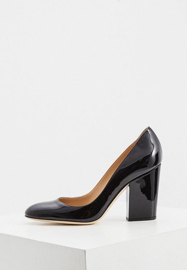 женские туфли с закрытым носом sergio rossi, черные