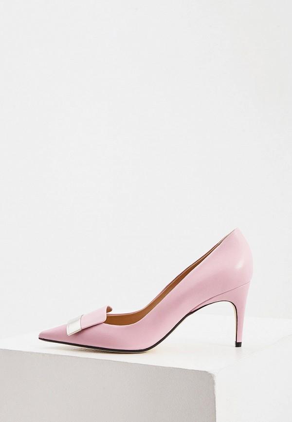 женские туфли-лодочки sergio rossi, розовые