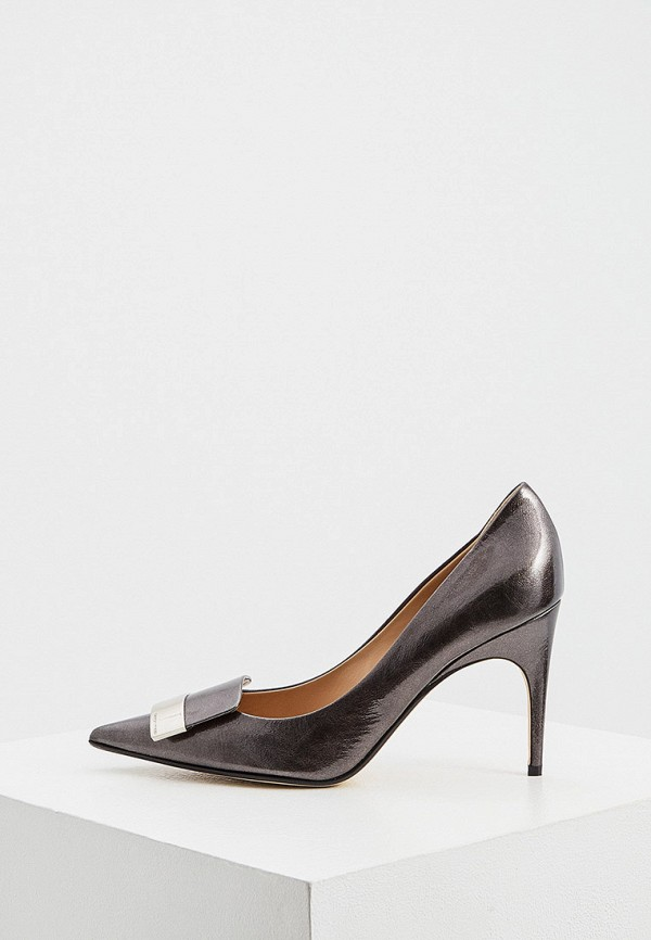 женские туфли-лодочки sergio rossi, зеленые