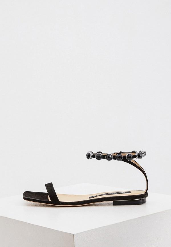 женские сандалии sergio rossi, черные