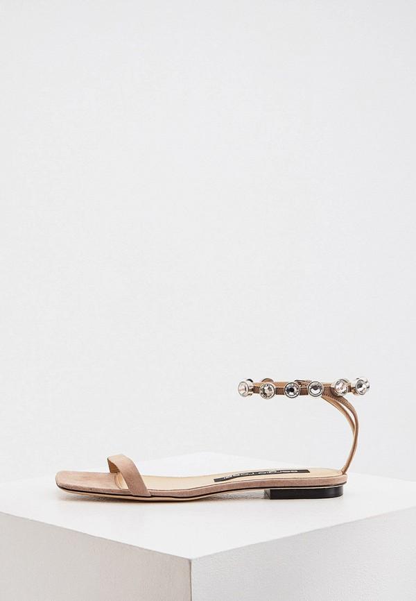 женские сандалии sergio rossi, бежевые