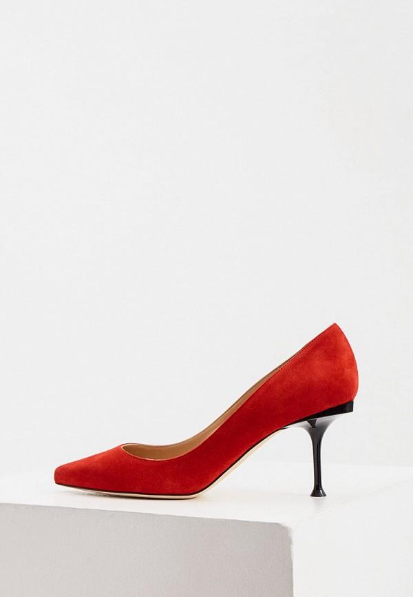 женские туфли-лодочки sergio rossi, красные
