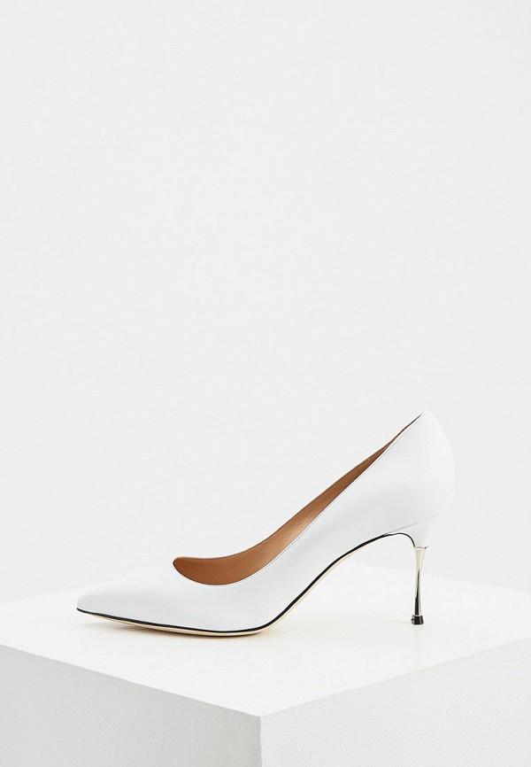 женские туфли-лодочки sergio rossi, белые