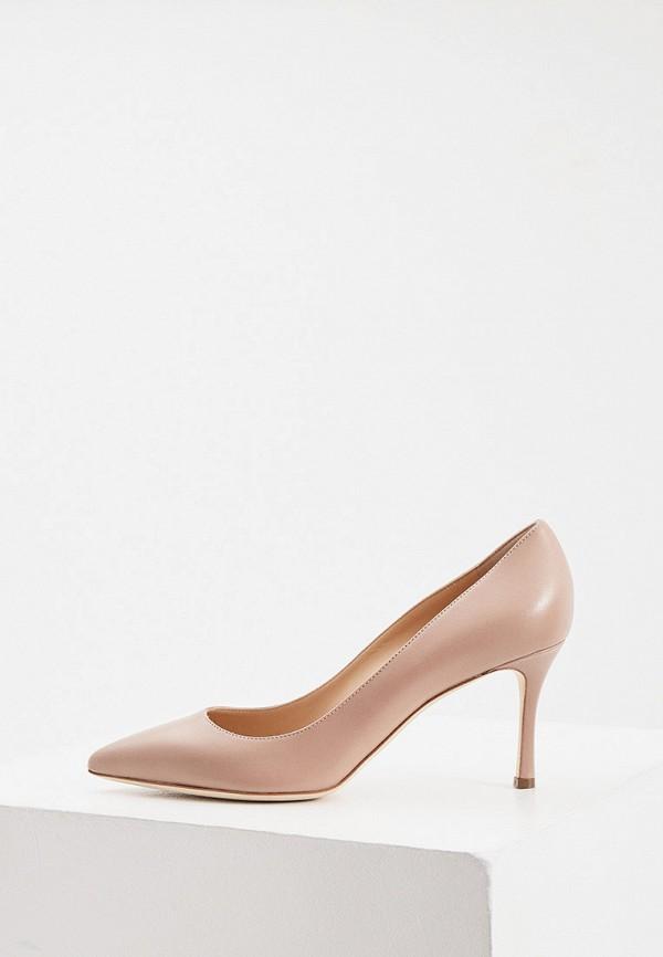 женские туфли-лодочки sergio rossi, бежевые