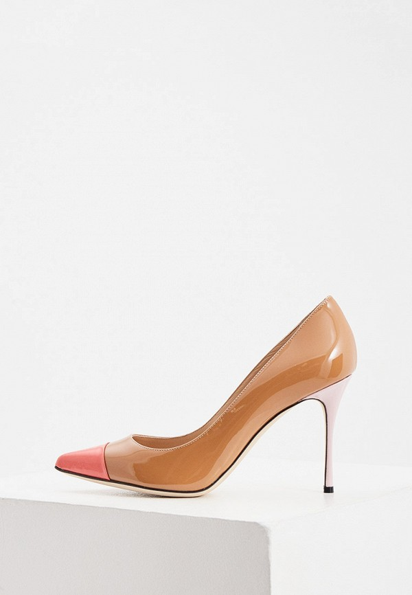 женские туфли-лодочки sergio rossi, коричневые
