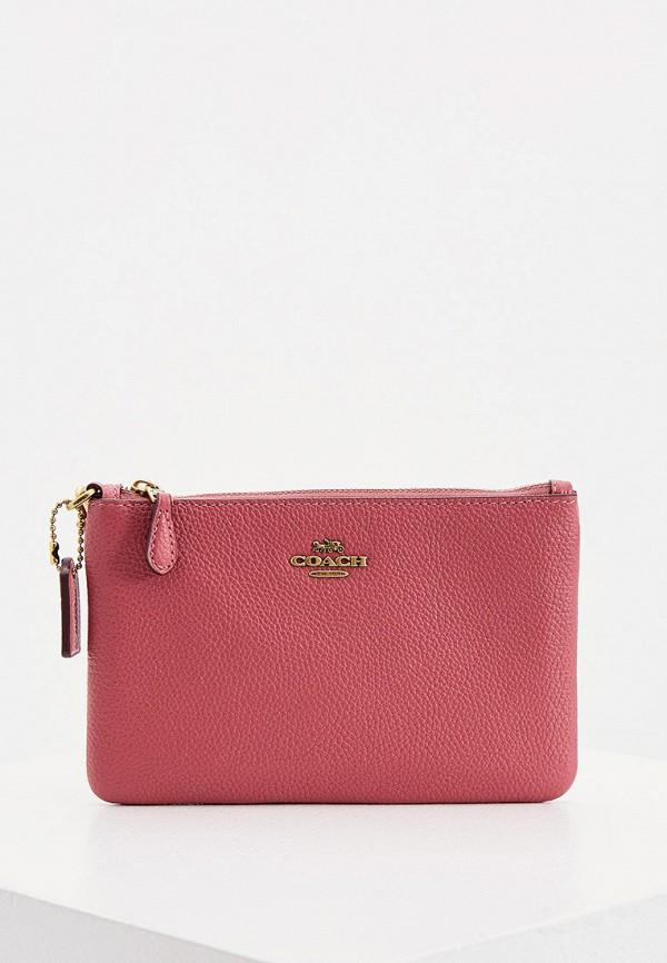 женский кошелёк coach, розовый