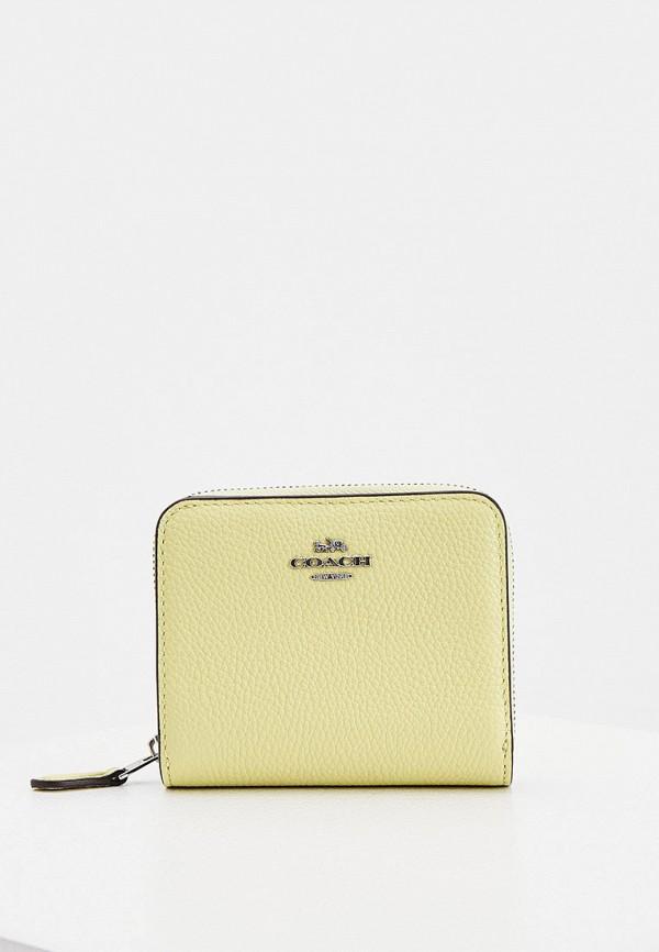 женский кошелёк coach, желтый