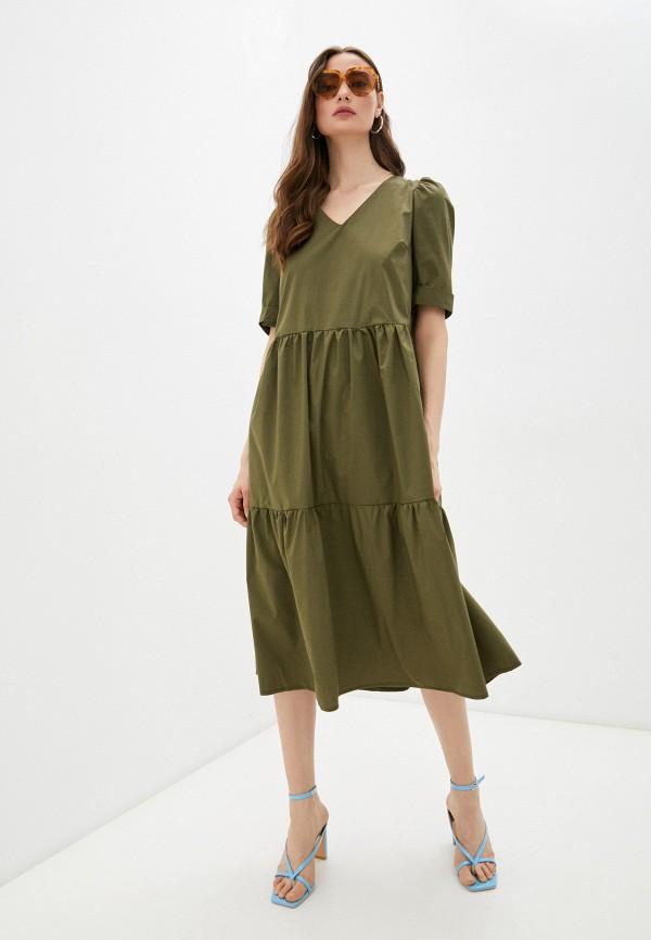 женское повседневные платье francesca peretti, хаки