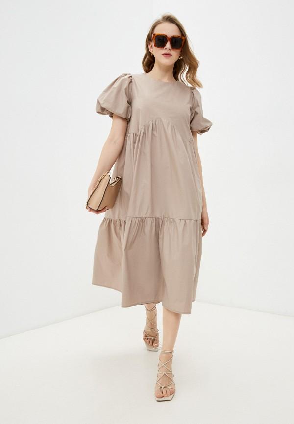 женское повседневные платье francesca peretti, бежевое