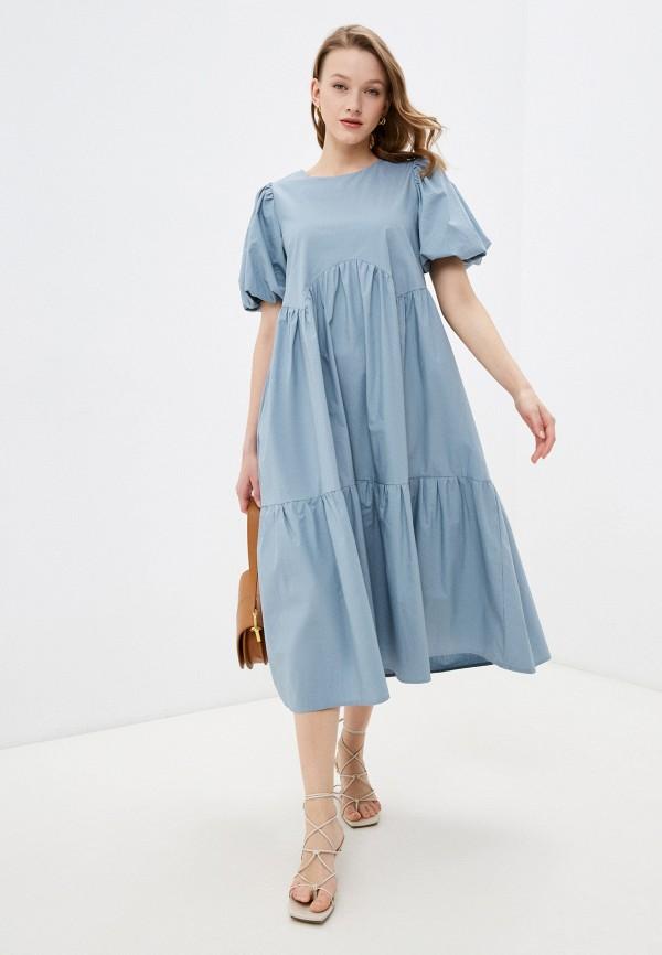 женское повседневные платье francesca peretti, голубое