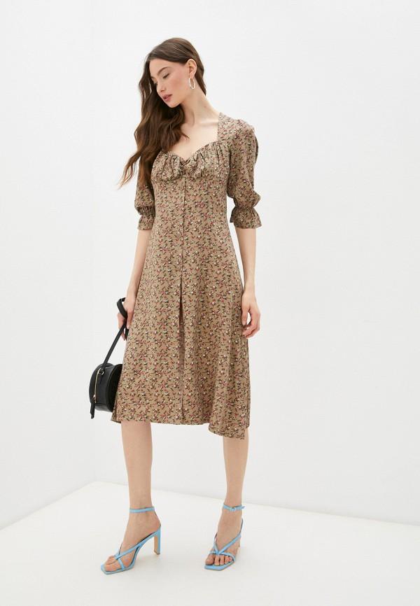 женское повседневные платье francesca peretti, коричневое