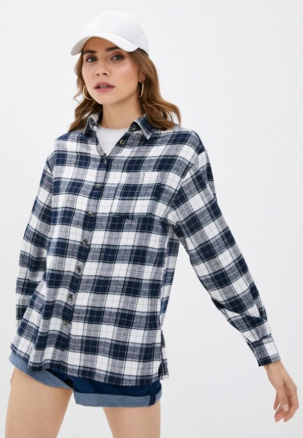 женская рубашка с длинным рукавом brave soul, синяя