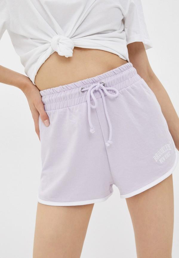 женские спортивные шорты brave soul, фиолетовые