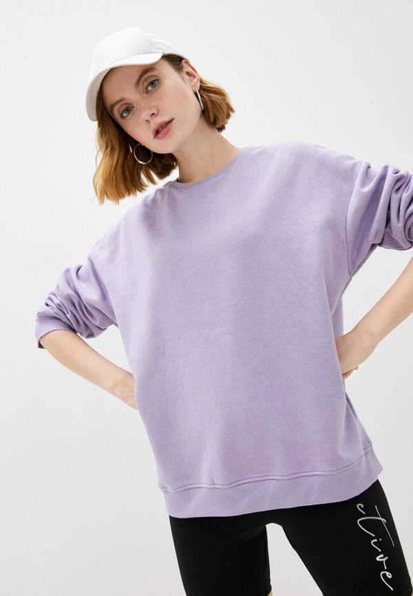 женский свитшот brave soul, фиолетовый