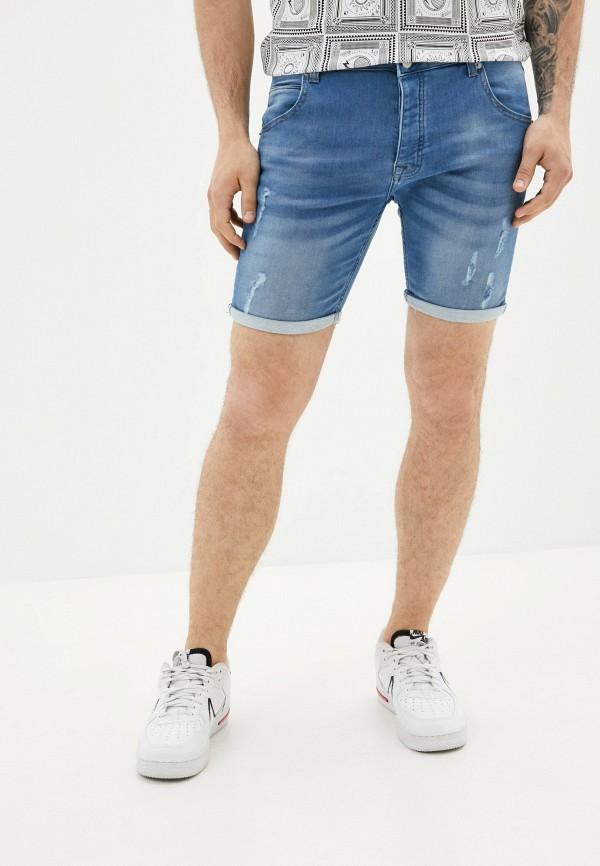 мужские джинсовые шорты brave soul, синие