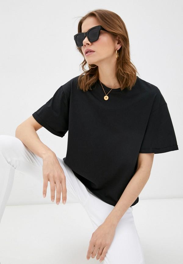 женская футболка brave soul, черная