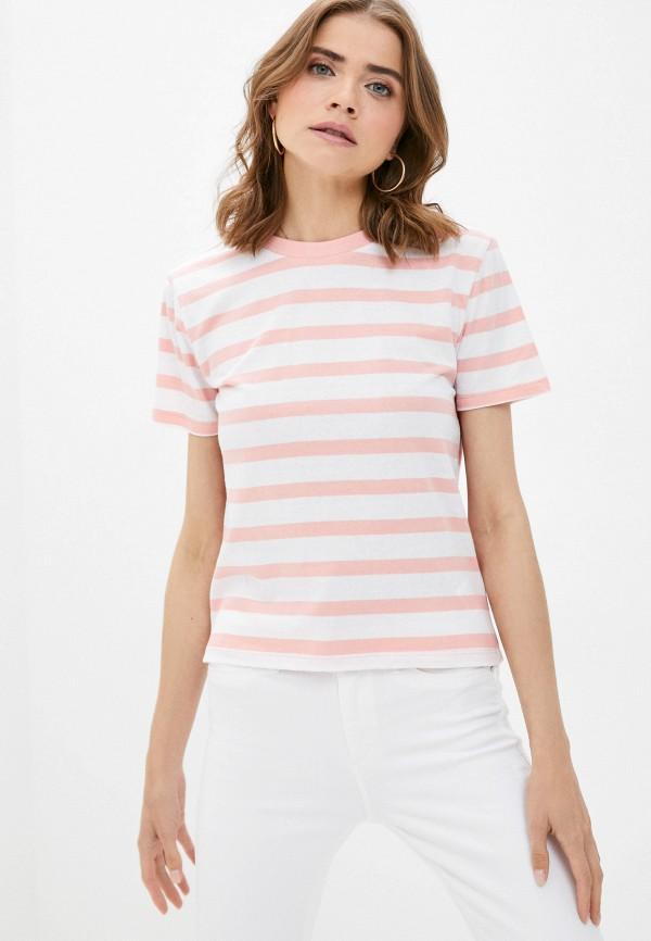 женская футболка brave soul, розовая