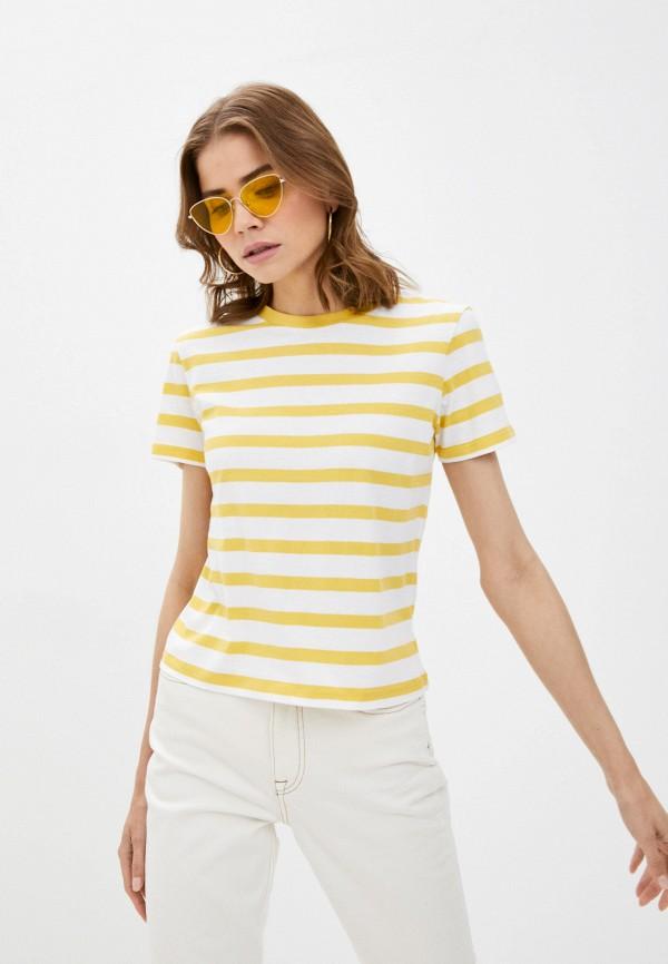 женская футболка brave soul, желтая