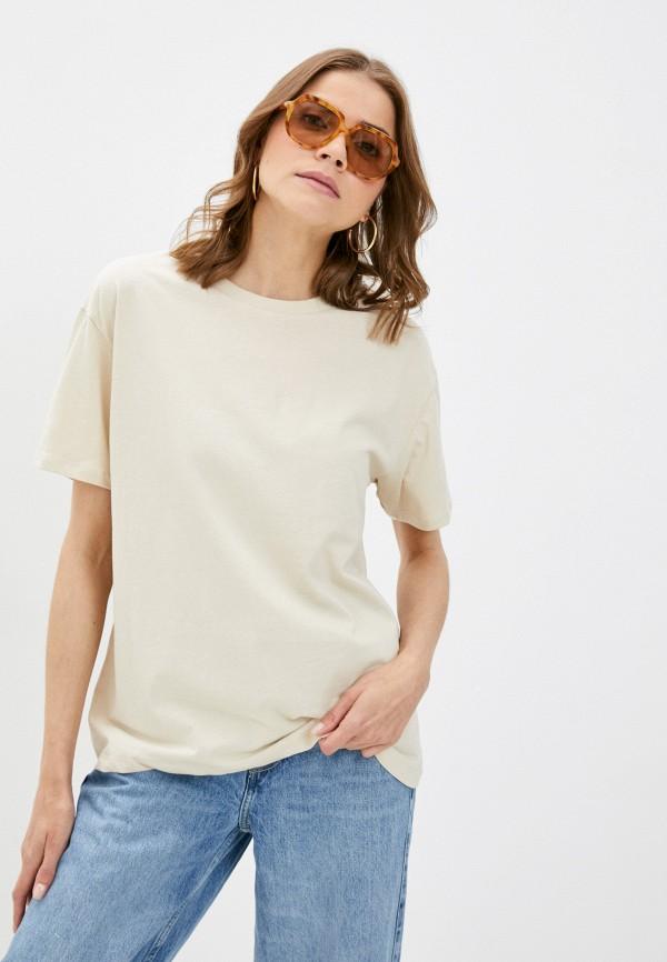 женская футболка brave soul, бежевая