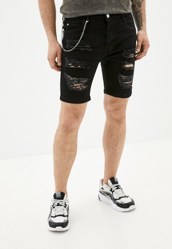 мужские джинсовые шорты brave soul, черные