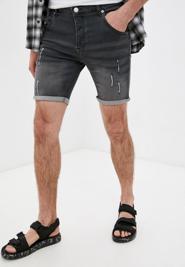 мужские джинсовые шорты brave soul, серые