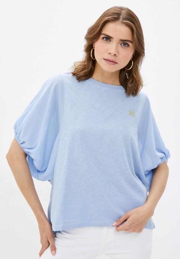 женская футболка river island, голубая