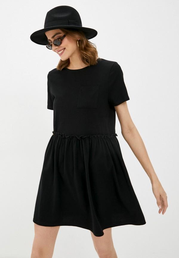 женское платье river island, черное