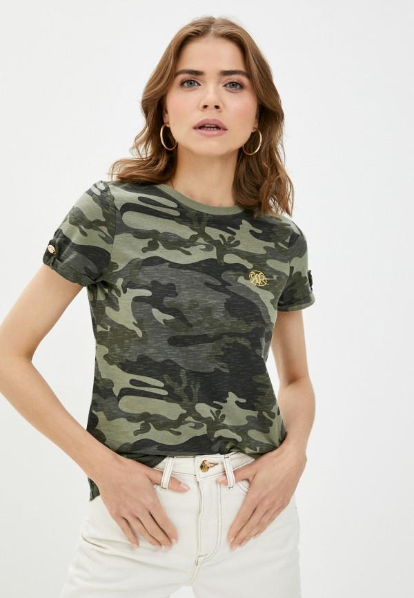 женская футболка river island, хаки