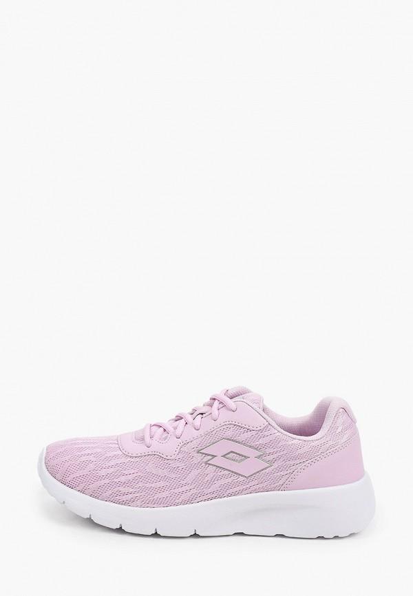женские низкие кроссовки lotto, фиолетовые