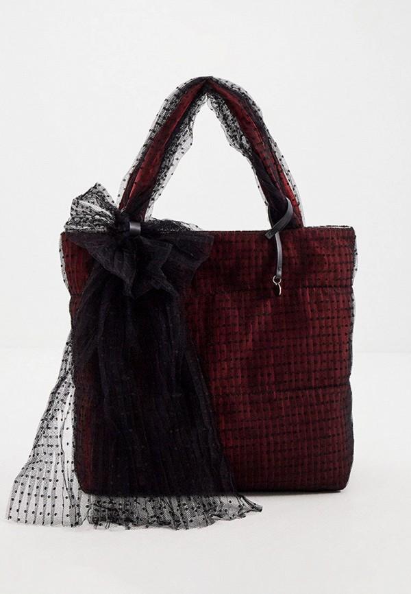 женская сумка-шоперы red(v), бордовая