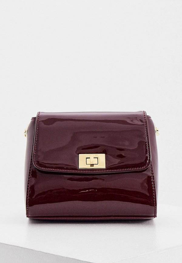 женская сумка через плечо cerruti 1881, бордовая