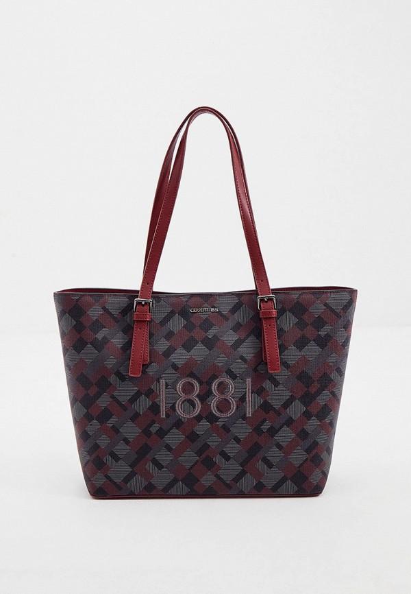 женская сумка-шоперы cerruti 1881, разноцветная