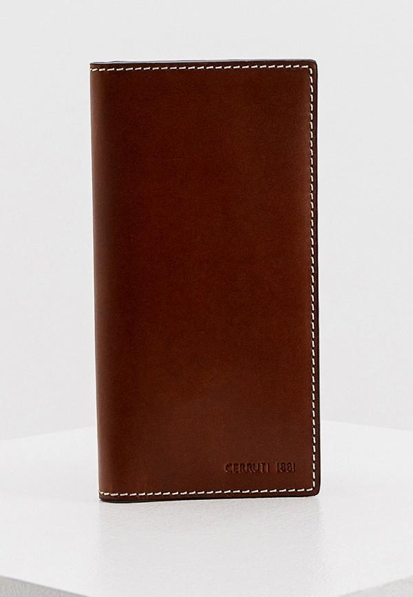 мужской кошелёк cerruti 1881, коричневый