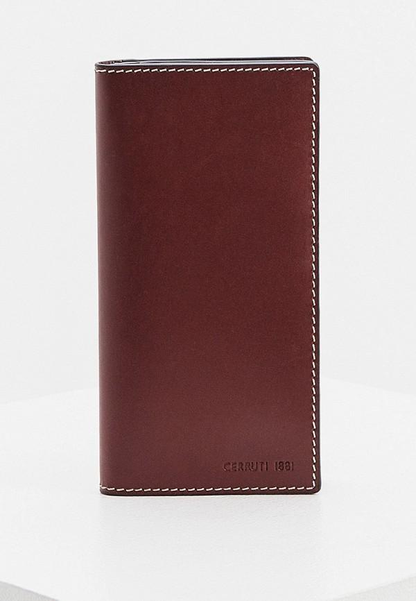 мужской кошелёк cerruti 1881, бордовый