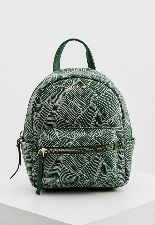 женский рюкзак cerruti 1881, зеленый