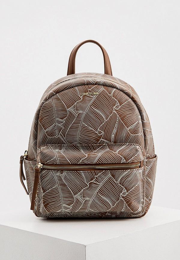 женский рюкзак cerruti 1881, коричневый
