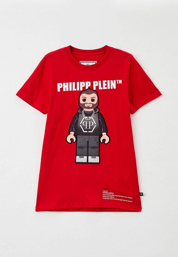 Футболка Philipp Plein красного цвета