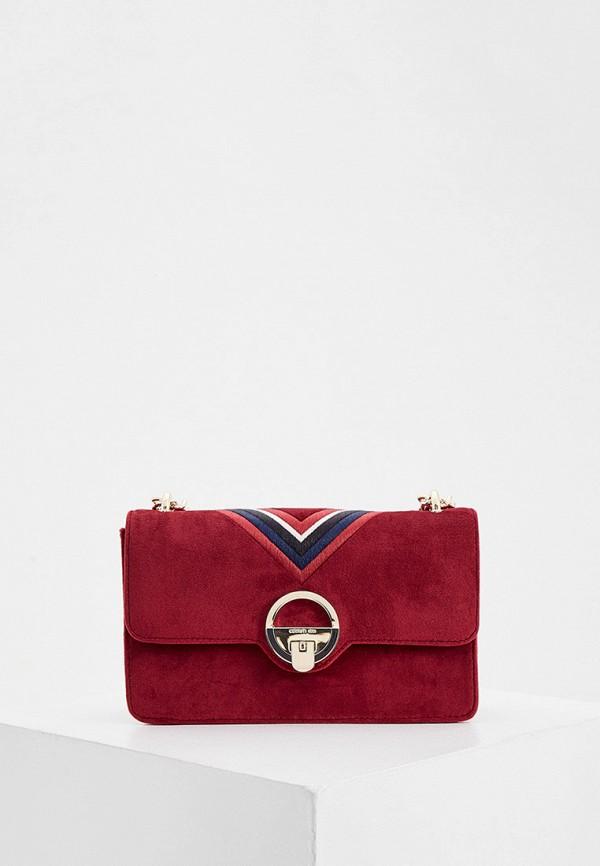 женская сумка cerruti 1881, бордовая