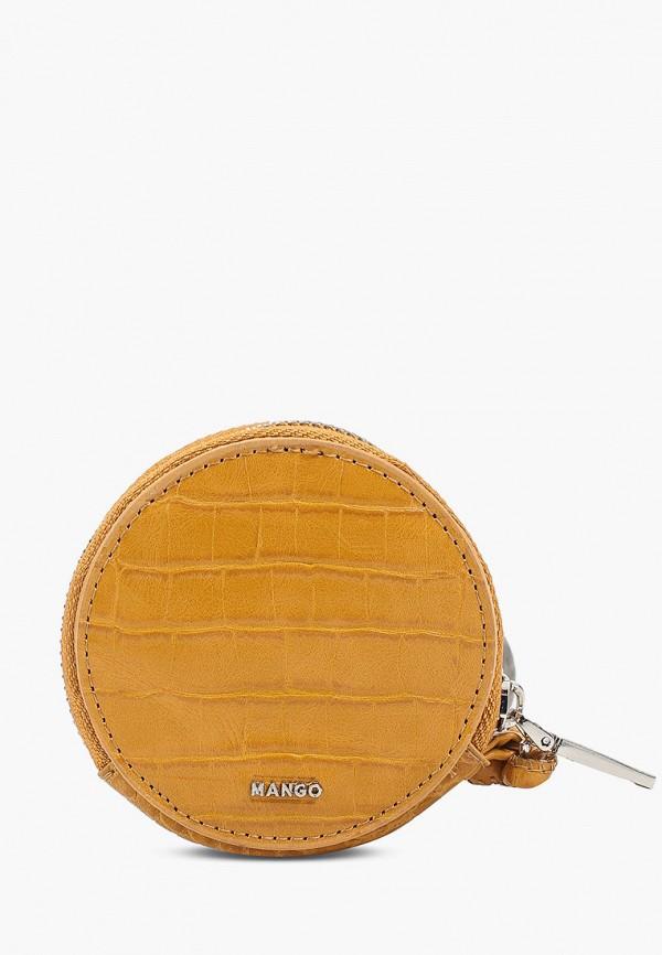 женский кошелёк mango, оранжевый