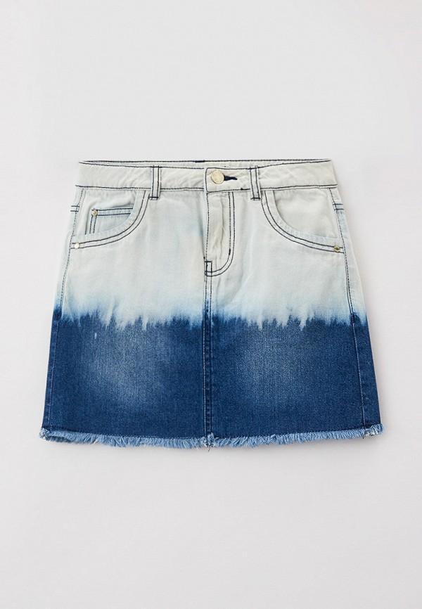 юбка guess для девочки, голубая