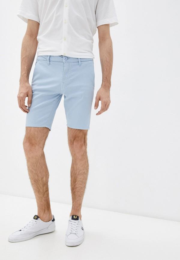 мужские повседневные шорты guess, голубые
