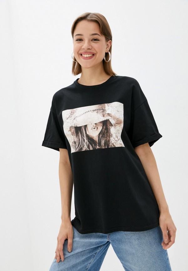 женская футболка rene santi, черная