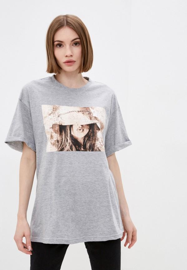 женская футболка rene santi, серая