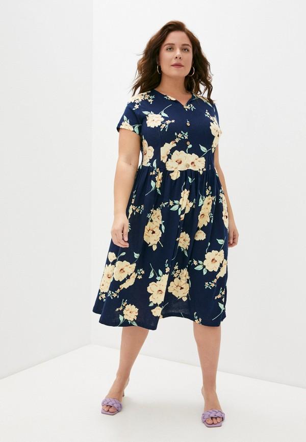 женское повседневные платье rene santi, синее