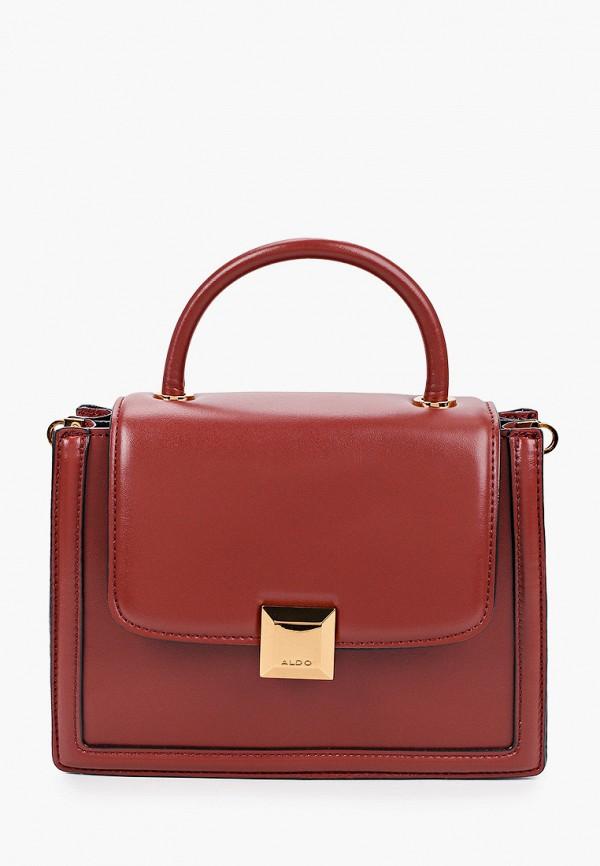 женская сумка aldo, коричневая