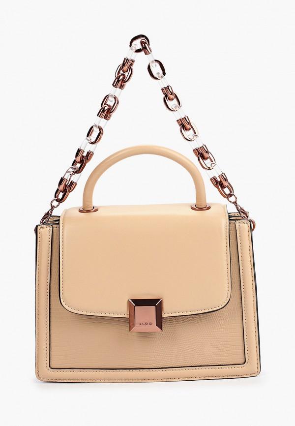 женская сумка с ручками aldo, белая