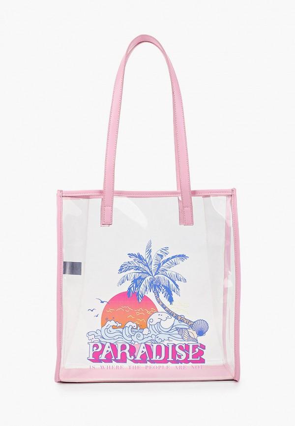 женская сумка-шоперы skinnydip, розовая