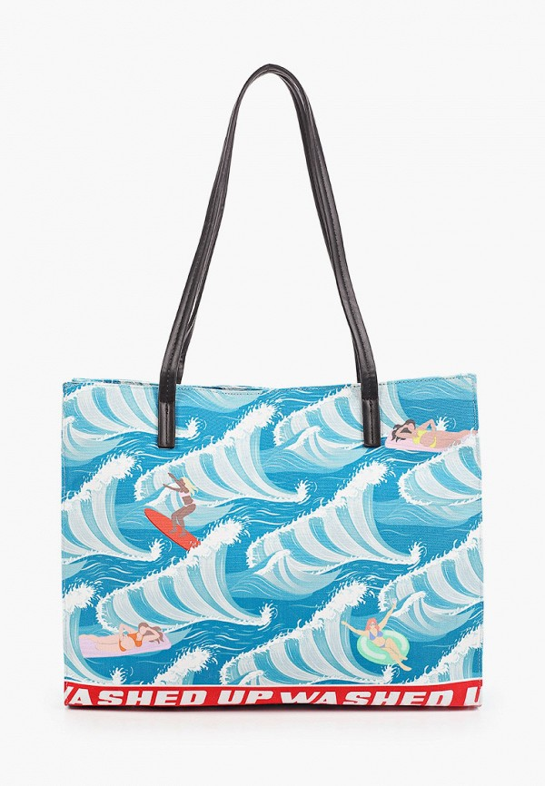 женская сумка-шоперы skinnydip, бирюзовая