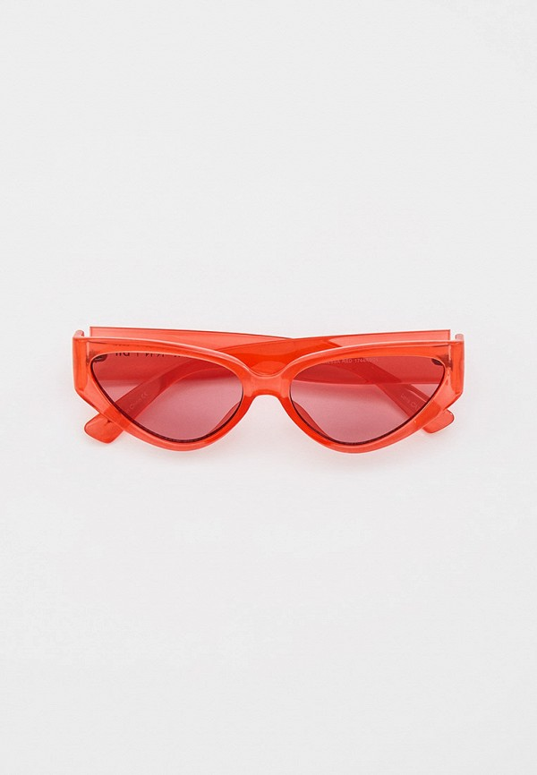 женские солнцезащитные очки кошачьи глаза skinnydip, красные