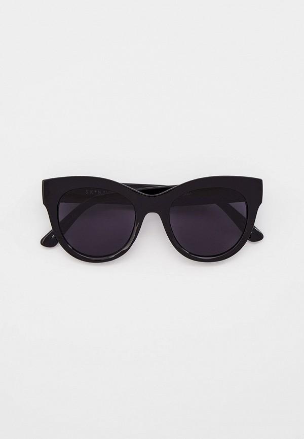 женские солнцезащитные очки skinnydip, черные